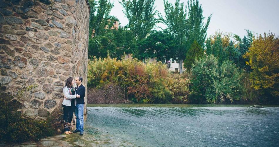 José Luis y Nuria...Preboda en Toledo bajo la lluvia